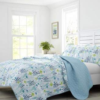Laura Ashley Seaweed Fish Cotton Reversible Quilt Set by Home