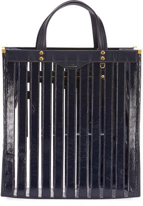 Anya Hindmarch Multi Stripes Patent Tote Bag