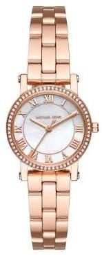 Norie Rose Goldtone Stainless Steel Three-Hand Bracelet Watch