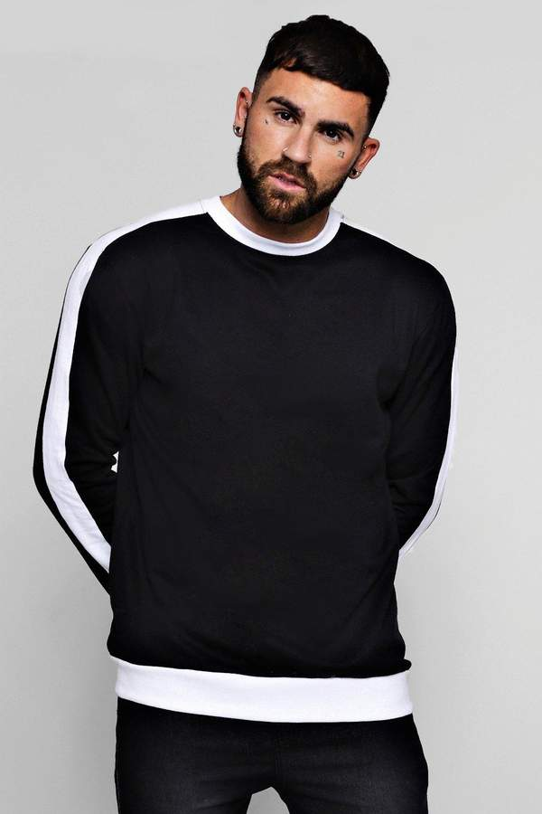 boohoo Oversized Sweater With Contrast Panel