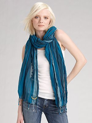 Juicy Couture Striped Cotton Scarf