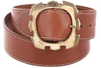 Barneys New York Barney's New York Leather Buckle Belt