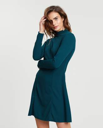 Dorothy Perkins High-Neck Fit-and-Flare Dress