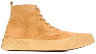 Ami Alexandre Mattiussi vulcanized laced boots