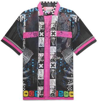 Cav Empt Printed Cotton-Voile Shirt