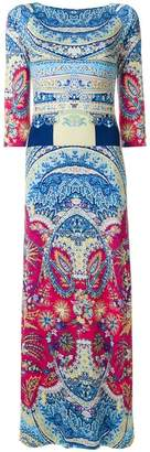 Etro mixed print maxi dress