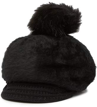Natasha Accessories Baseball Pompom Beanie