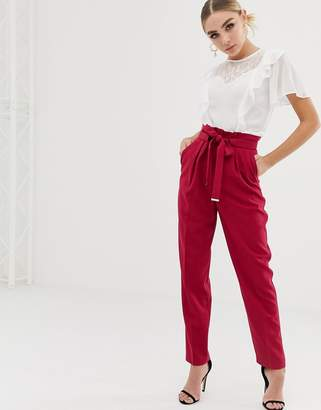 Lipsy peg pants with belt