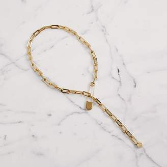 Burberry Kilt Pin Gold-plated Long Link Drop Necklace