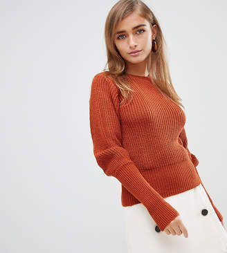 Fashion Union Petite Sweater With Fitted Rib