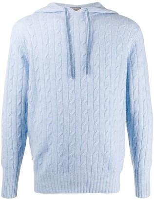 Herringbone hooded jumper