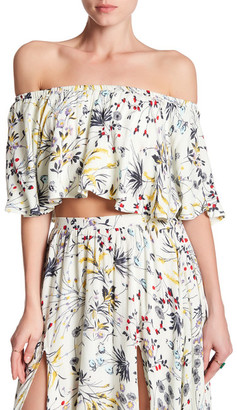 Lucca Couture Off-the-Shoulder Cropped Blouse $38.50 thestylecure.com