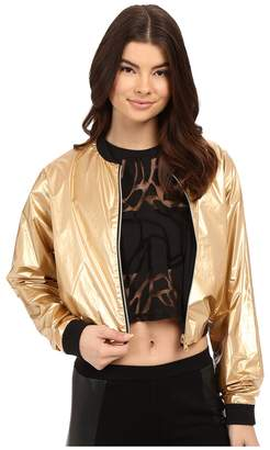 Bench Jess Glynne x Benchtm collaboration-Rather Be Crop Bomber Jacket Women's Coat