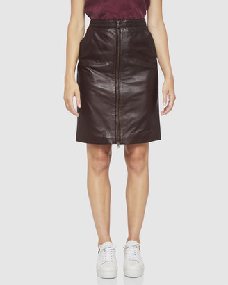 Oxford Izzy Leather Skirt