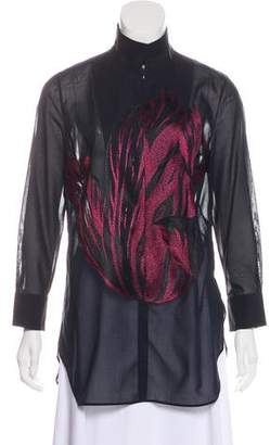 Akris Long Sleeve Embroidered Tunic w/ Tags