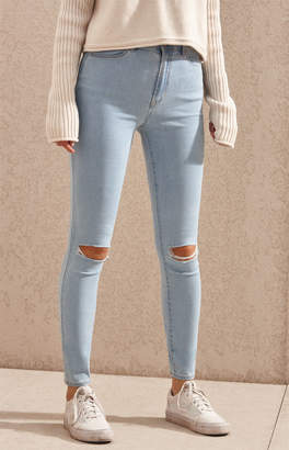 Pacsun PacSun Bundy Blue Super High Rise Jeggings