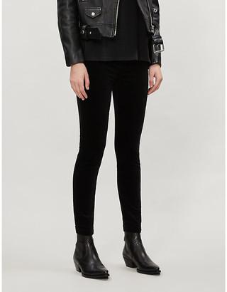 J Brand Dellah high-rise velvet leggings
