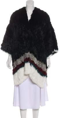 Elizabeth and James Knee-Length Fur Coat