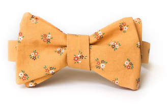 Pomp & Circumstance Haberdashery Goldenrod Floral Bow Tie
