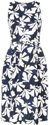 Oscar de la Renta sleeveless full skirt dress