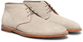 Santoni Suede Desert Boots - Men - Mushroom