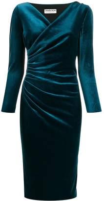 Chiara Boni Le Petite Robe Di velvet wrap style dress