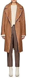 Martin Grant Women's Wool-Cotton Corduroy Cocoon Coat - Caramel