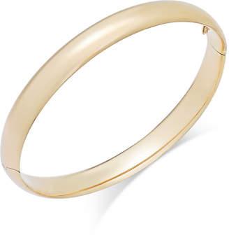 Italian Gold High Polish Bangle Bracelet in 14k Gold