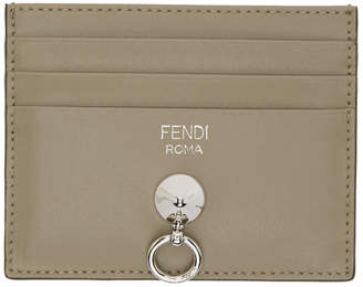 Fendi Grey By The Way Card Holder