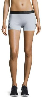 Monreal London Booty Boost Star-Print Sport Shorts, Gray $245 thestylecure.com