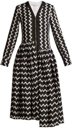 Stella McCartney Zig-zag long-sleeved maxi dress