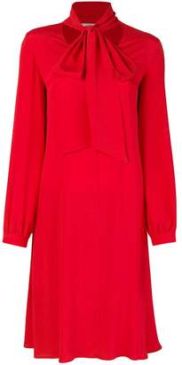 Mauro Grifoni neck-tied flared dress
