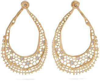 Aurelie Bidermann FINE JEWELLERY Lace diamond & yellow-gold earrings