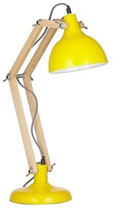 Amalfi by Rangoni Sleuth Table Lamp Wood & Yellow