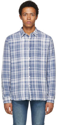 Frame Blue Plaid Shirt