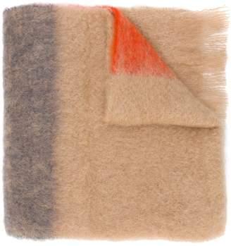 Jil Sander colour-block fringed scarf