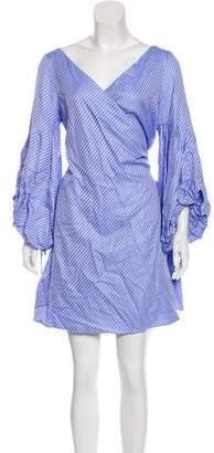 Alexis Knee-Length Wrap Dress