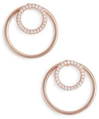 Nadri Pave Double Circle Earrings
