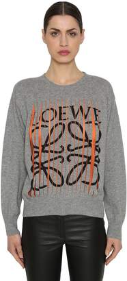 Loewe Logo Printed Cut Cashmere Sweater