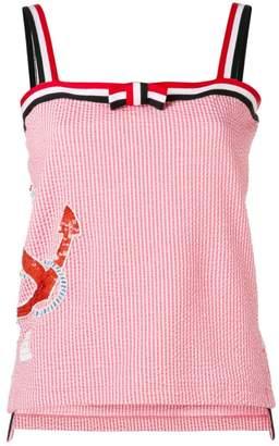 Thom Browne Sequin Icon Bow Tie Camisole
