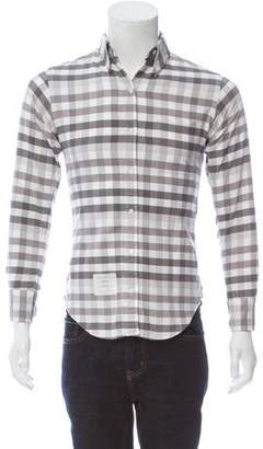 Thom Browne Gingham Button-Up Shirt