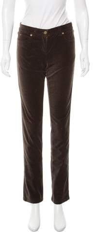 Michael Kors Velvet Mid-Rise Pants w/ Tags