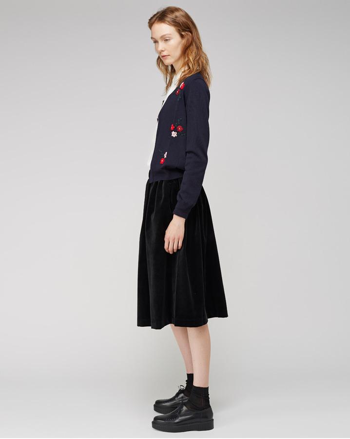 Comme des Garcons Girl / floral embroidered cardigan