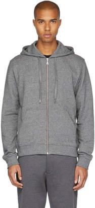 Kenzo Grey Logo Zip Hoodie