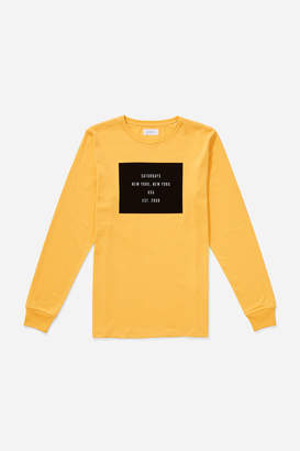 Saturdays NYC Established Box Long Sleeve T-Shirt