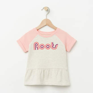 Roots Toddler Short Sleeve Peplum Crew