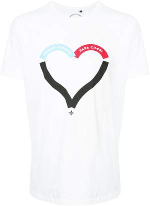 Commune De Paris heart print T-shirt