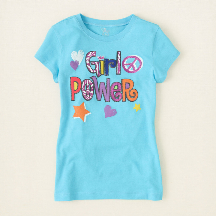 Children's Place Girl power graphic tee