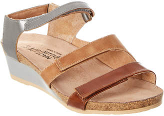 Naot Footwear Goddess Leather Wedge Sandal