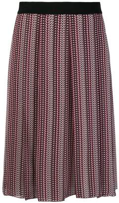 Giambattista Valli printed pleated skirt